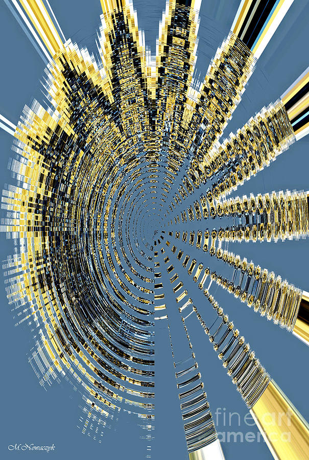 Abstract Digital Art - Sound Explosion by Marlena Nowaczyk