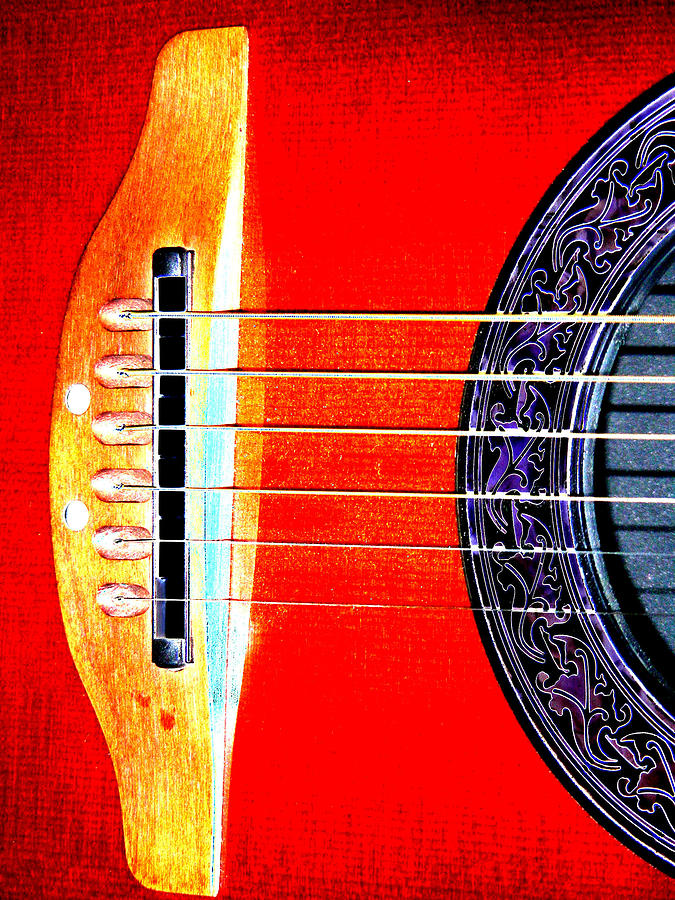 Guitar Digital Art - Sound Hole by Peter  McIntosh