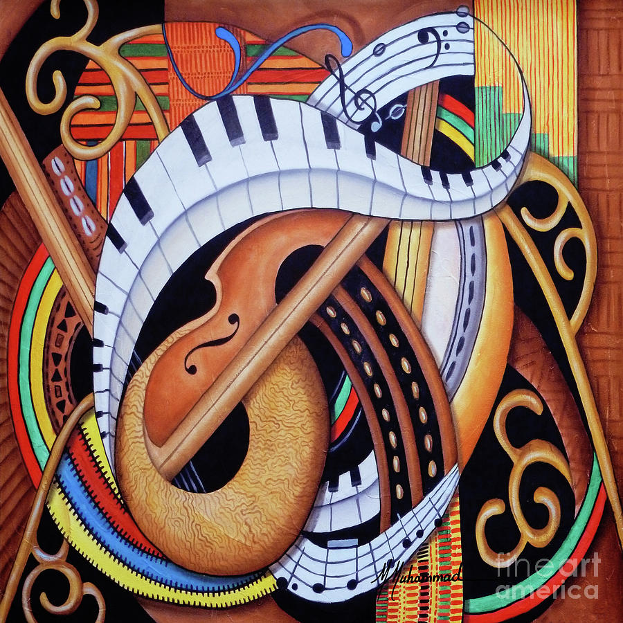 Music Painting - Sound Of Soul Strings by Marcella Muhammad