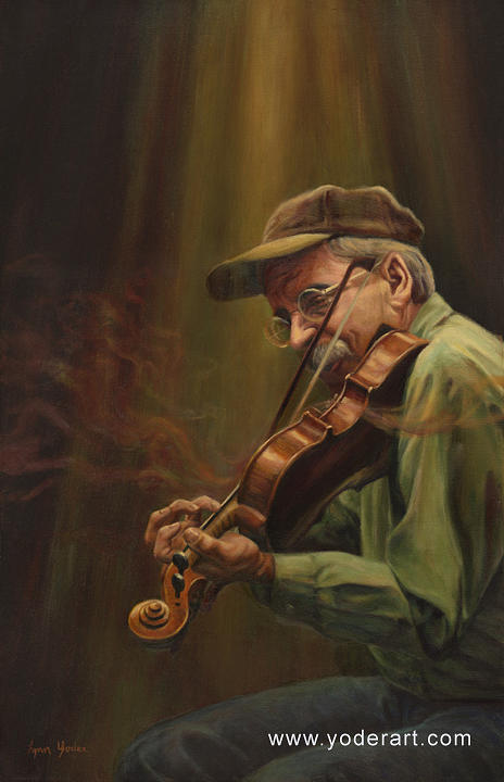 Fiddler Painting - Sound To Sight by Lynn Yoder