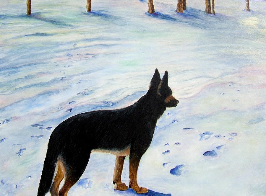 German Shepherd Painting - Sounds Of Silence by JoLyn Holladay