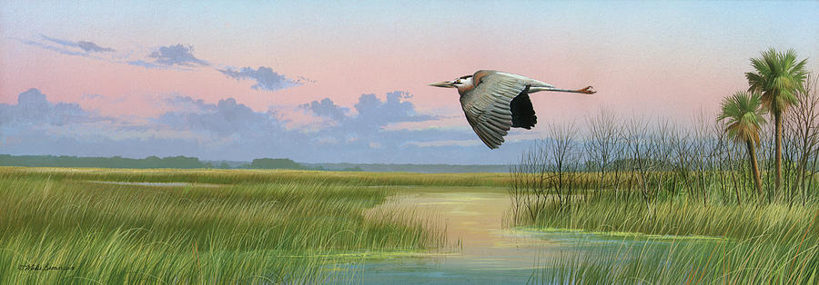 Marsh Painting - Sounds of Silence by Mike Brown