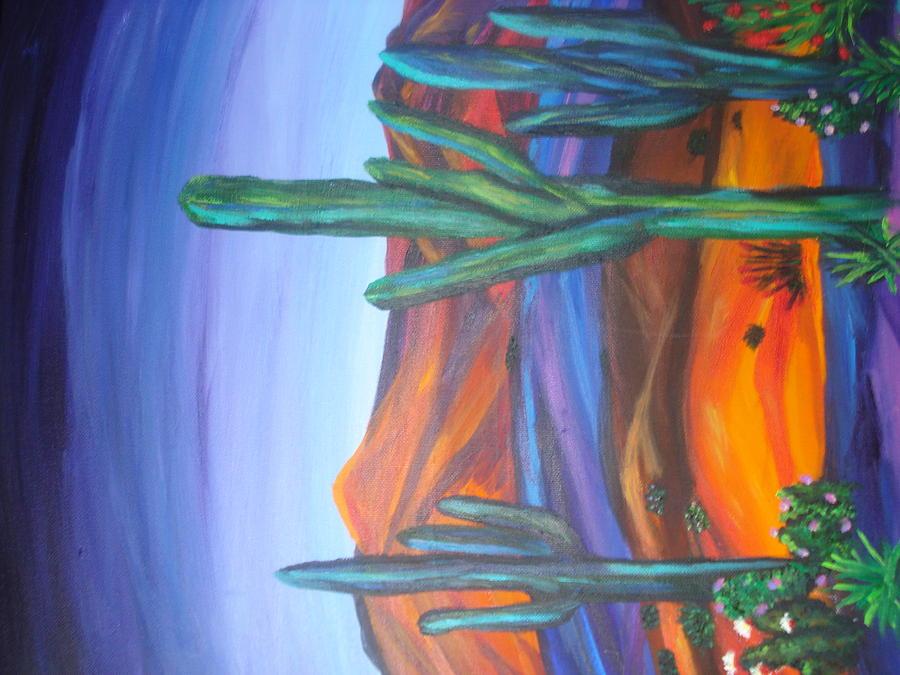 Earthtones Painting - Sourhwest Desert by Jan Knott