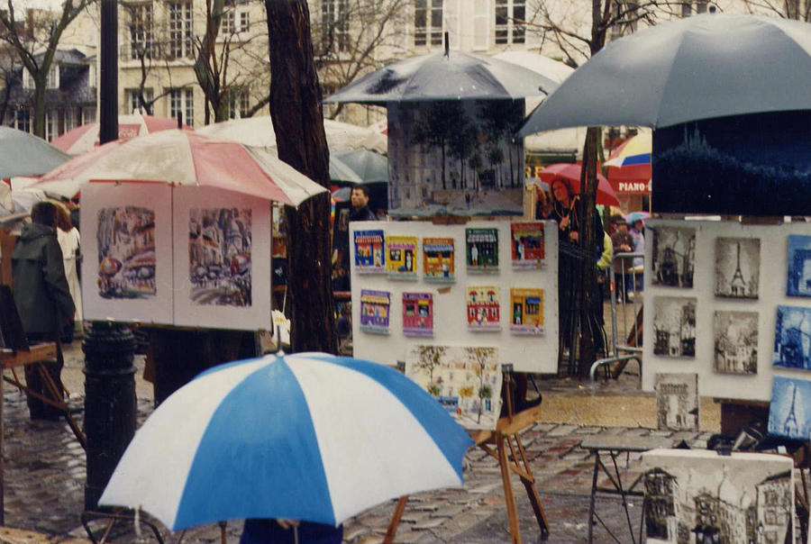 Paris Photograph - Sous La Parapluie by Maria Joy