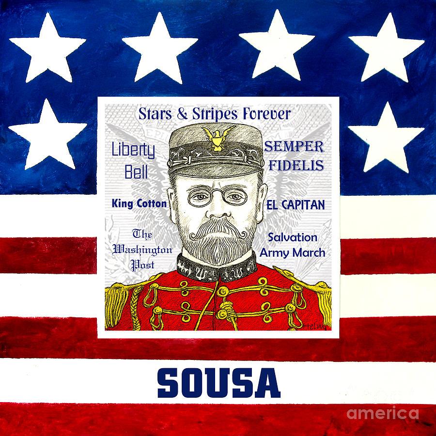 Sousa Drawing - Sousa by Paul Helm