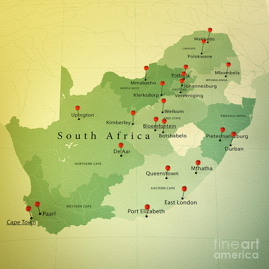 Cartography Digital Art South Africa Map South