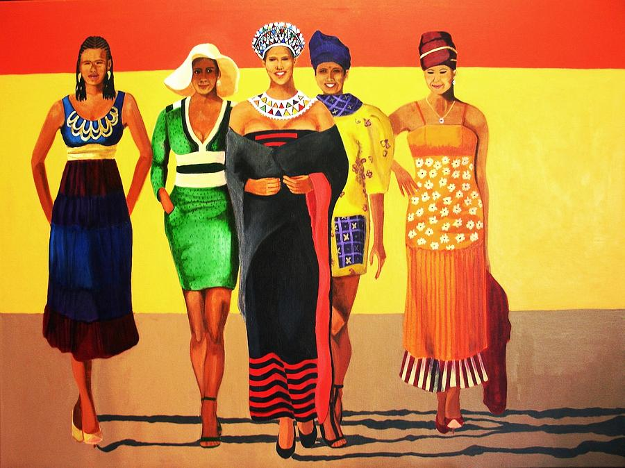 Women Painting - South African Beauties by Jacqui Simpson