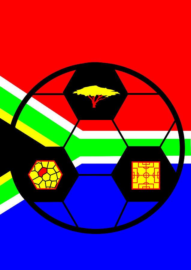 South African Flag Digital Art - South African Joy II by Asbjorn Lonvig