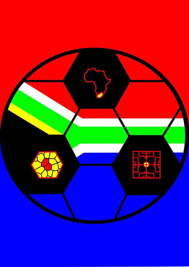 South African Flag Digital Art - South African Joy VI by Asbjorn Lonvig