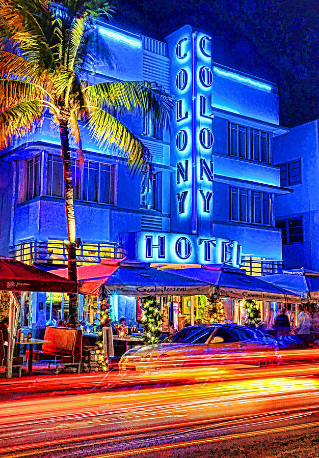 Usa Photograph - South Beach Art Deco by Dennis Cox WorldViews