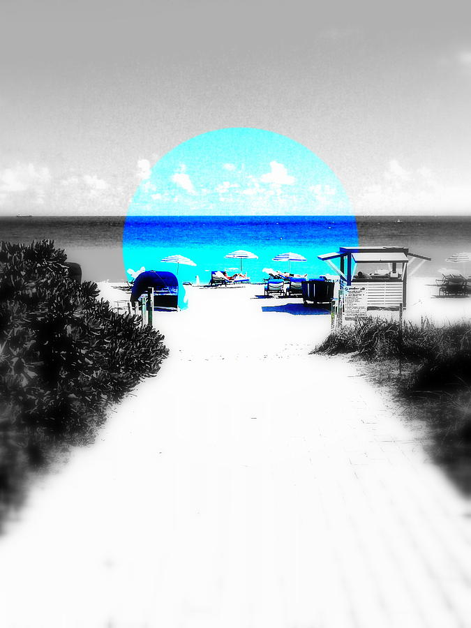 Miami Photograph - South Beach Blues by Funkpix Photo Hunter
