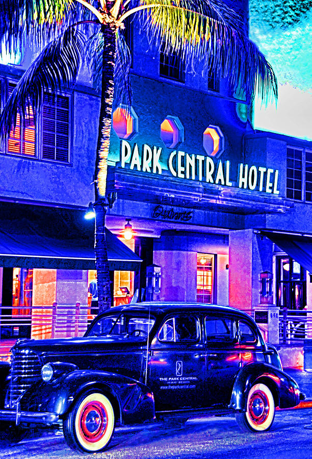 Usa Photograph - South Beach Hotel by Dennis Cox