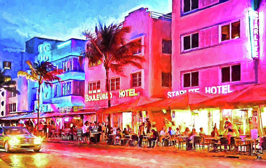 United States Of America Photograph - South Beach Neon by Dennis Cox