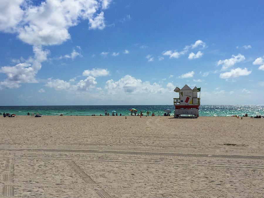 South Beach Photograph - South Beach Of Miami Beach Florida by Olga Kurygina