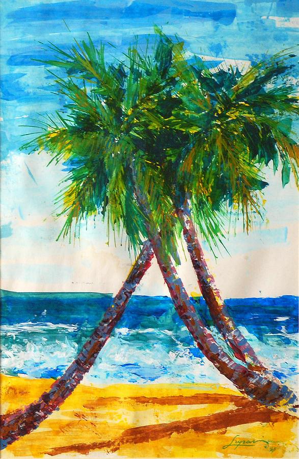 Tropical Painting - South Beach Palms by Thomas Lupari