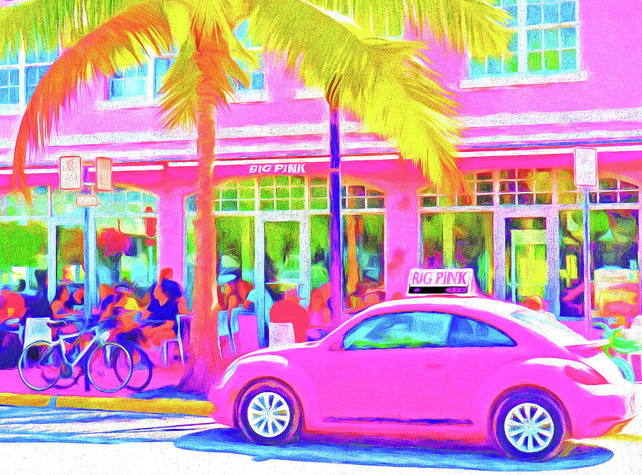 United States Of America Photograph - South Beach Pink by Dennis Cox