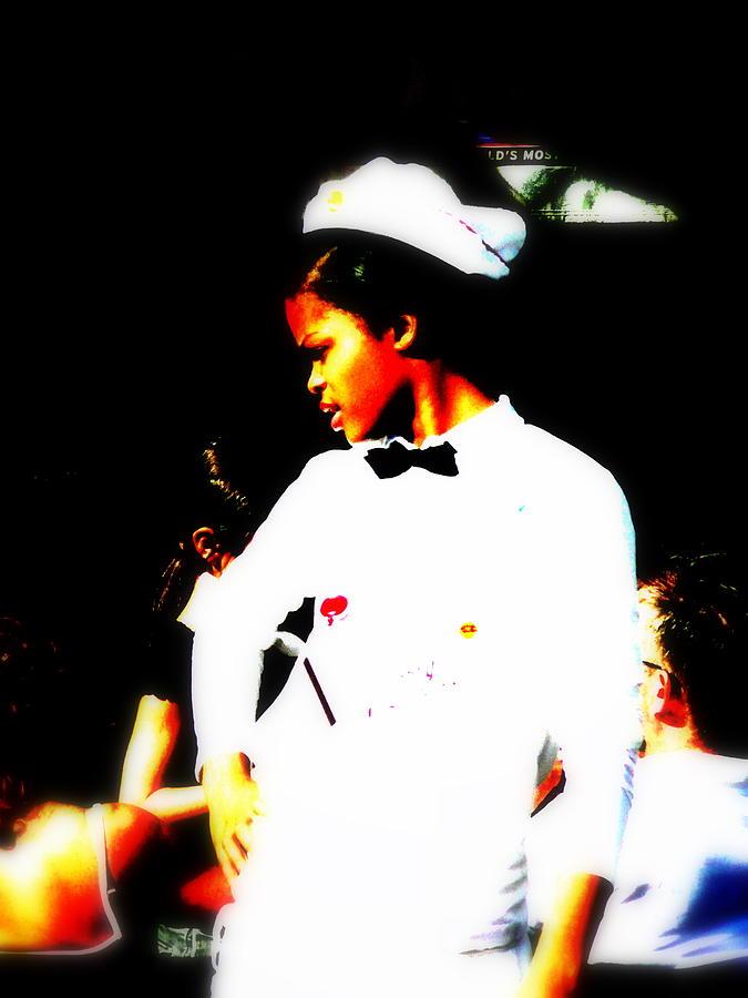 Waitress Photograph - South Beach Waitress Attitude by Funkpix Photo Hunter