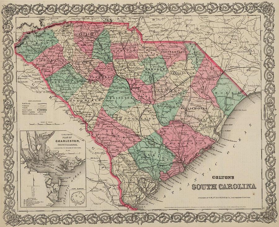 Carolina Painting - South Carolina by Colton
