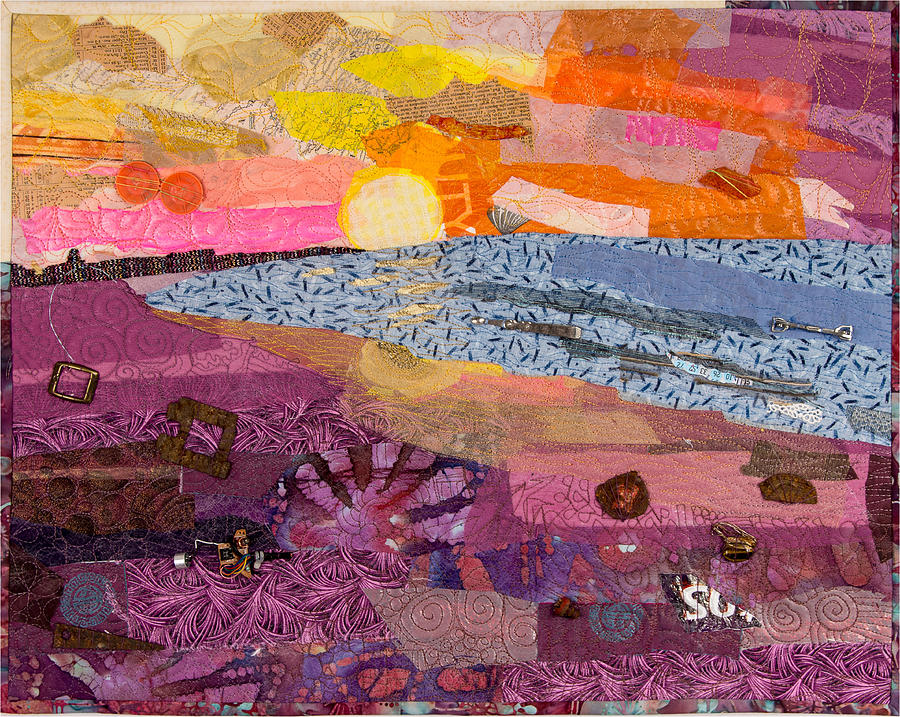 Art Quilt Mixed Media - South Carolina Dawn by Martha Ressler