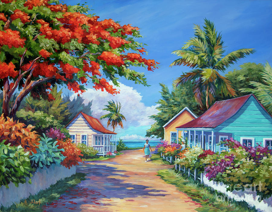 Cayman Painting - South Church Street by John Clark