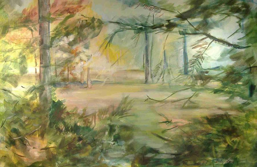 Landscape Painting - South East View by Shirley Fearn