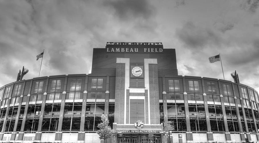 Lambeau Field Photograph - South end zone Lambeau Field by James Darmawan