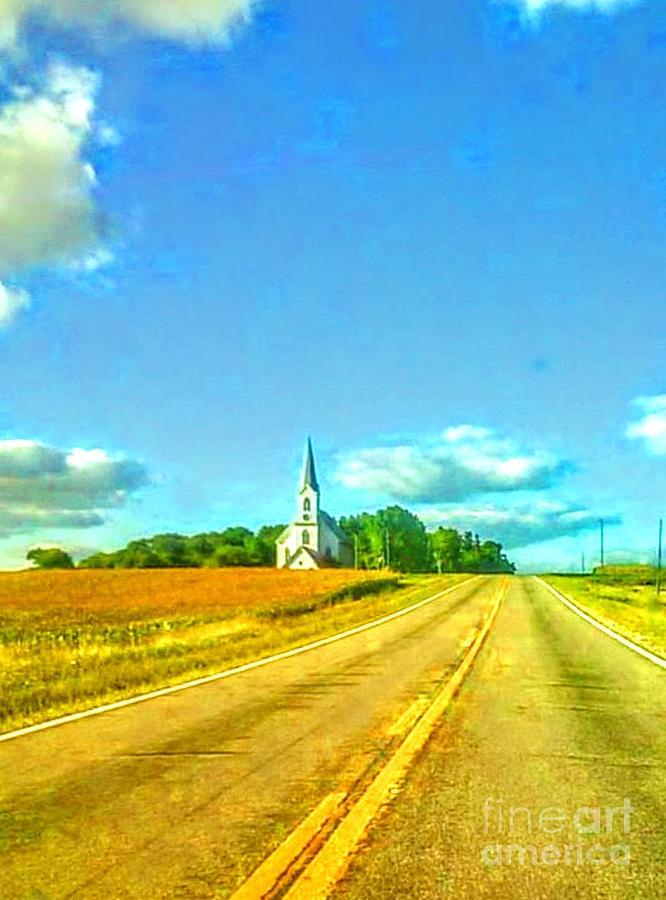 Church Photograph - South Immanuel, On A Hill Far Away by Curtis Tilleraas
