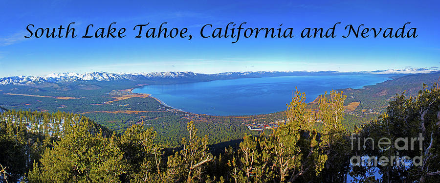 South Lake Tahoe Photograph - South Lake Tahoe, Ca And Nv by Glen Matthew Laughton
