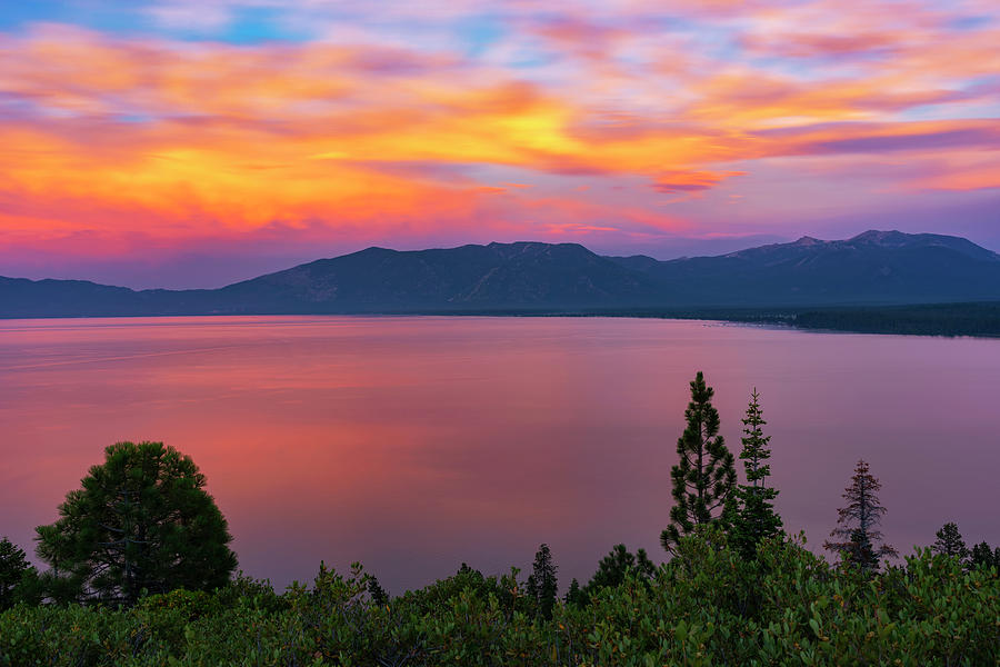 South Lake Tahoe Sunset by Brad Scott by Brad Scott