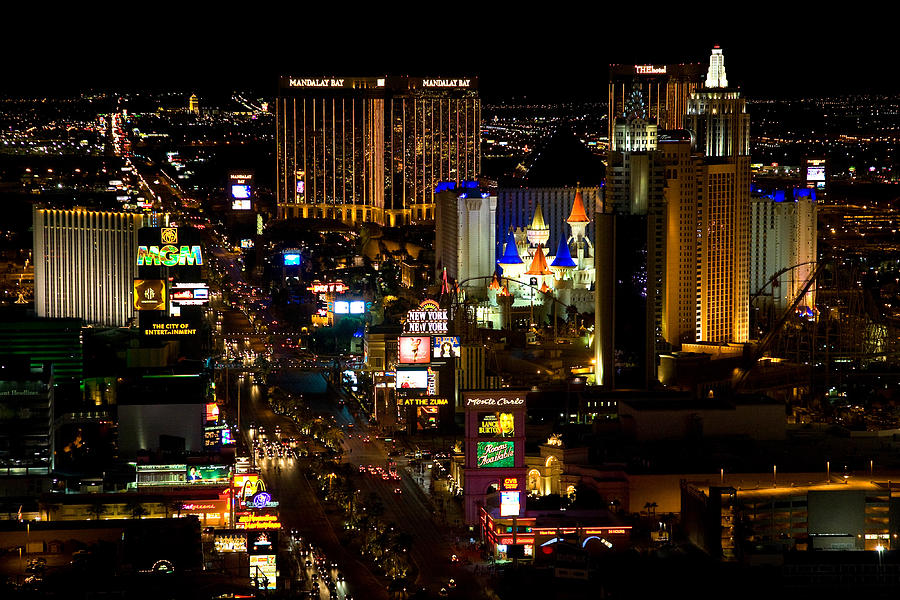Nevada Photograph - South Las Vegas Strip by James Marvin Phelps