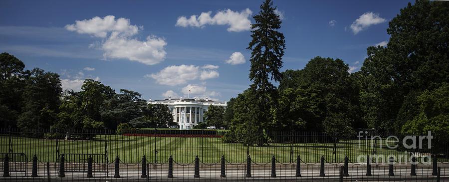 White House Photograph - South Lawn - White House by David Bearden
