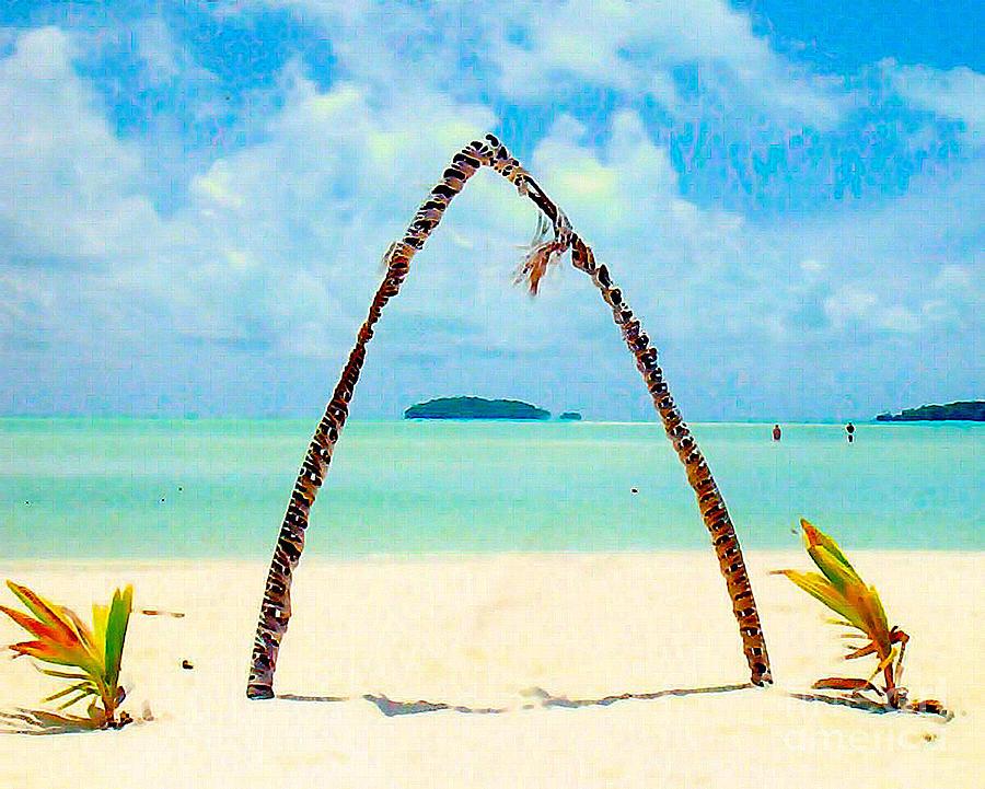 Beach Photograph - South Pacific Paradise by Jerome Stumphauzer