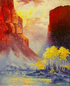 Little Big Horns Painting - South Pass At The Little Big Horns by Gordon Sage