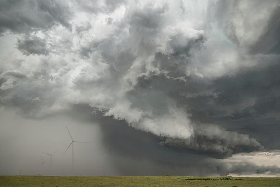Nature Photograph - South Plains Hail Core by Scott Cordell