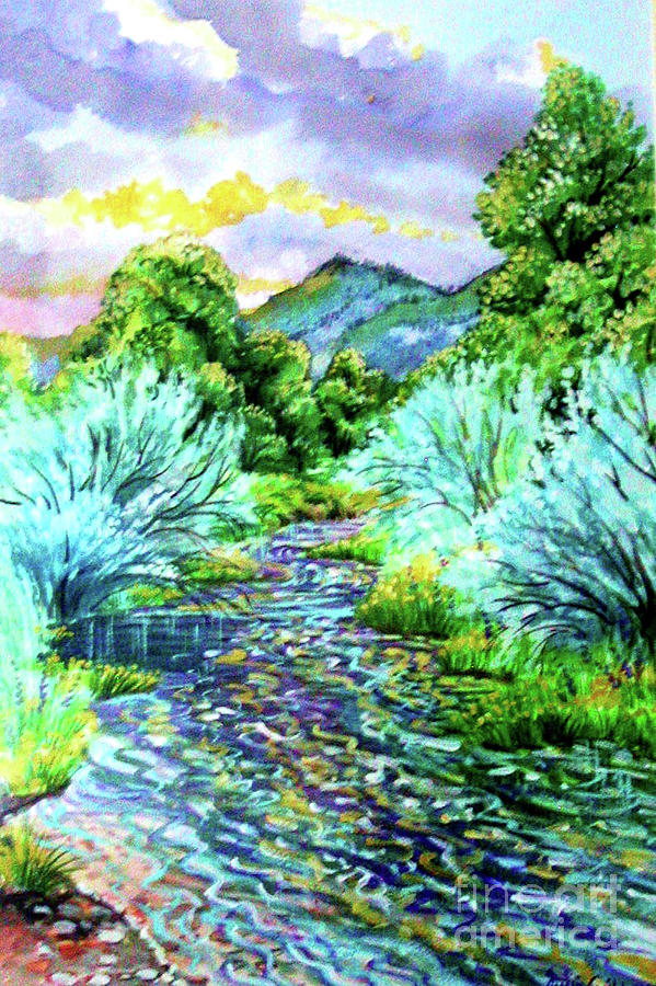 South Platte River  Digital Art by Annie Gibbons