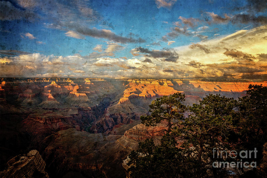 South Rim Sunset textured by Franz Zarda