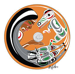 First Nations Painting - South Salish by Darlene Gait