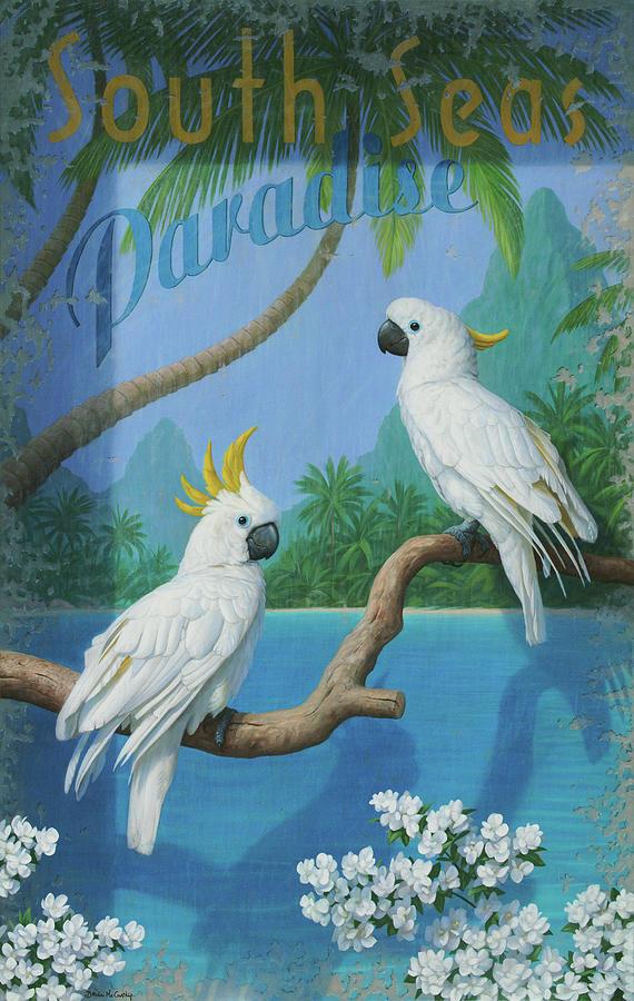 Birthday Card Painting - South Seas by Brian McCarthy