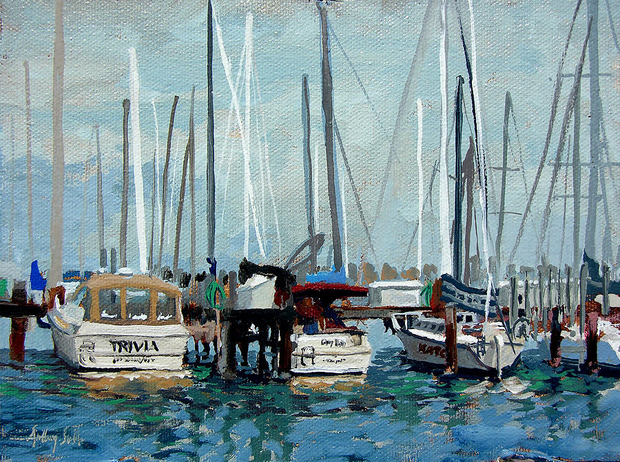 Boats Painting - South Shore Yacht Club by Anthony Sell