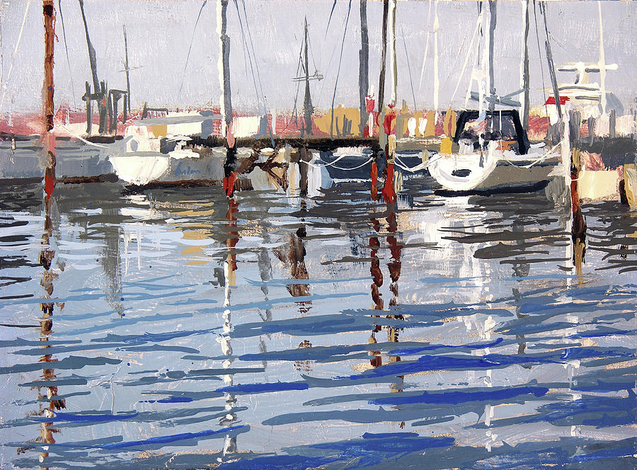 Plein Air Painting - South Shore Yacht Club No.11 by Anthony Sell