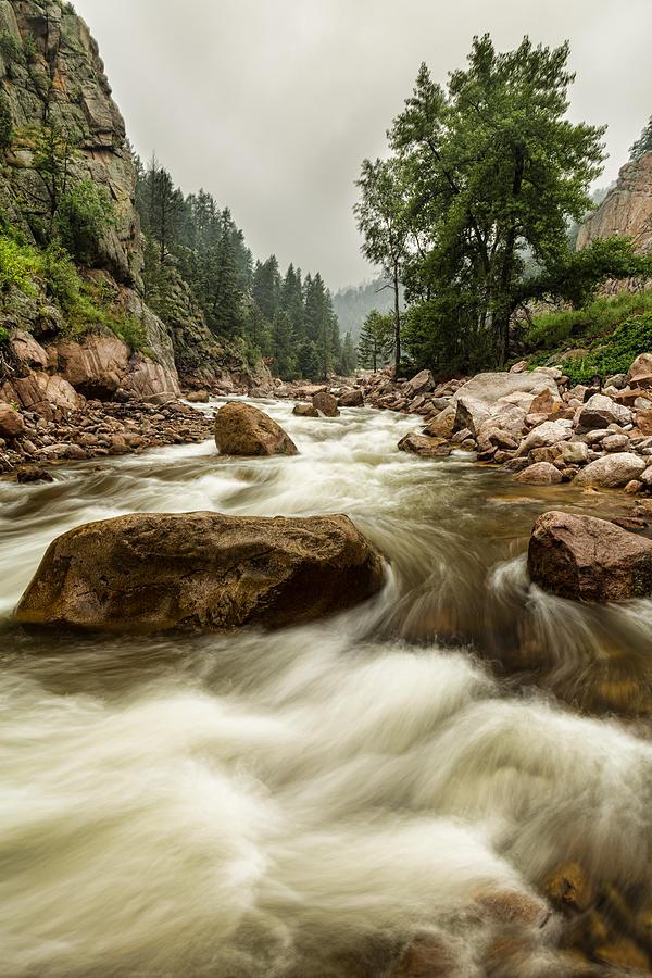 South St Vrain Canyon Portrait Boulder County Co Photograph