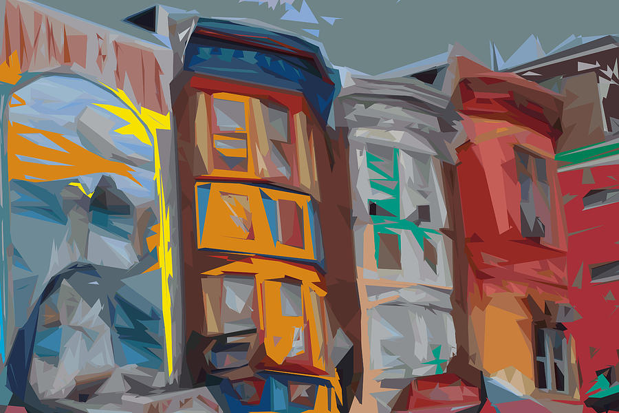 Philadelphia Digital Art - South Street Revisited by Kevin  Sherf