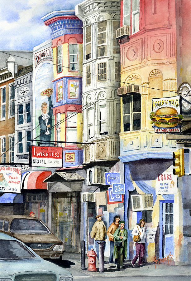 Street Painting - South Street by Sam Sidders