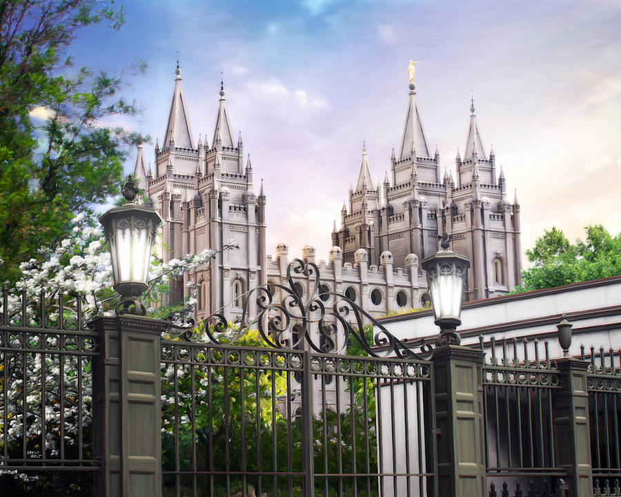 Salt Lake Painting - South Temple by Brent Borup