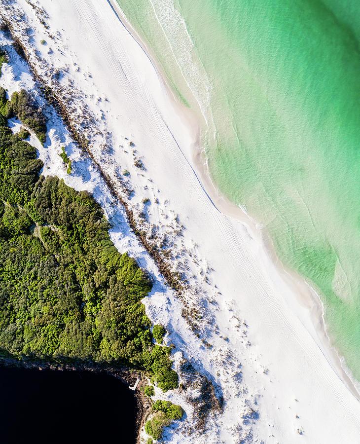 South Walton Dune Barrier Aerial by Kurt Lischka