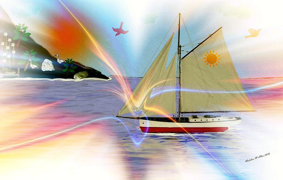 Ships Digital Art - South Winds by Madeline  Allen - SmudgeArt