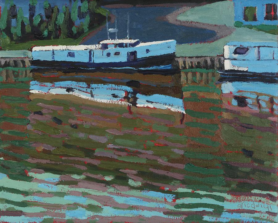 2106 Painting - Southampton And Scubbys Bluff Fishing Fleet by Phil Chadwick