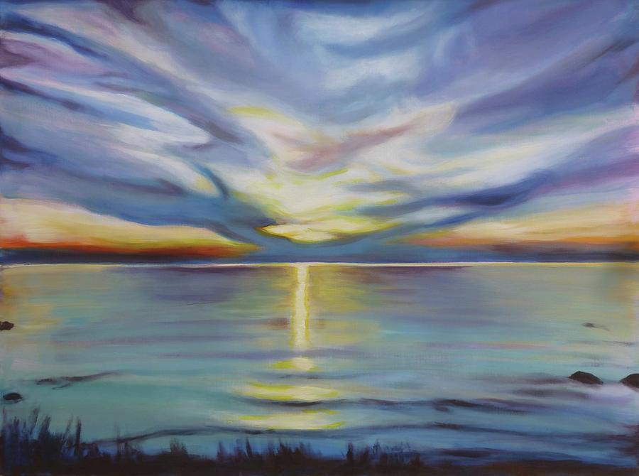 Southampton Sunset Painting