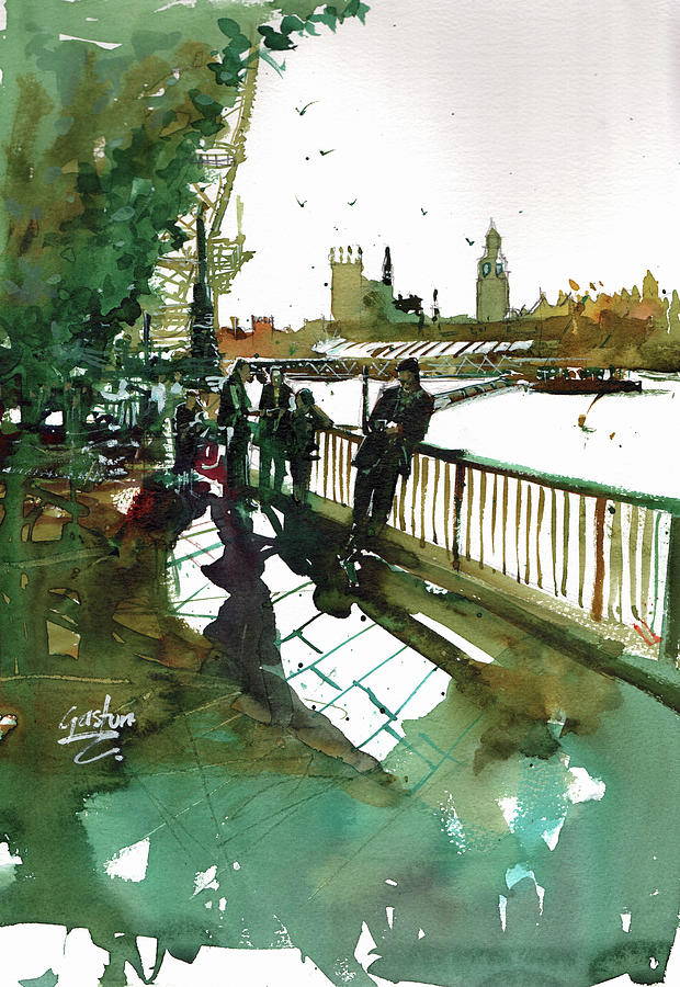 Southbank Painting - Southbank by Gaston McKenzie