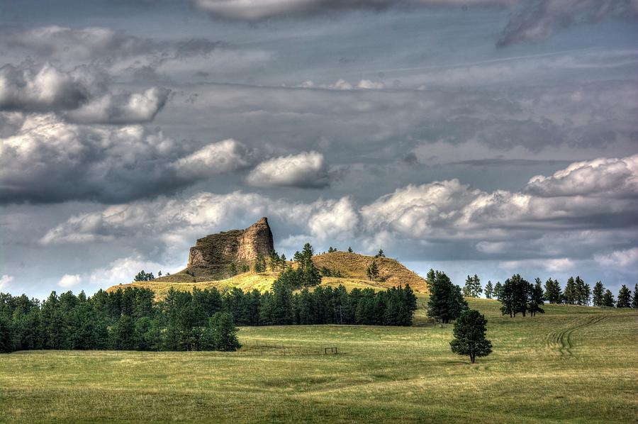 Butte Photograph - Belltower Butte by Dave Rennie